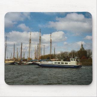Enkhuizen harbour, Ijselmeer, sailing vessels Mouse Pad