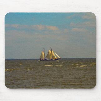 Enkhuizen harbour, Ijselmeer, saling vessel Mouse Pad