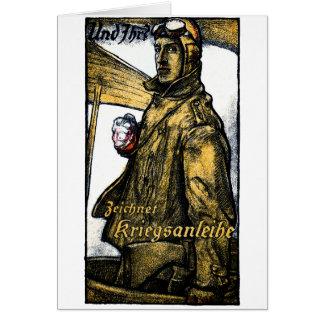 Enlace de guerra alemán de la aviación de WWI Tarjeta De Felicitación
