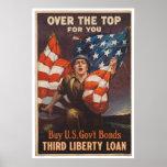 Enlace de guerra americano durante la Segunda Guer Poster
