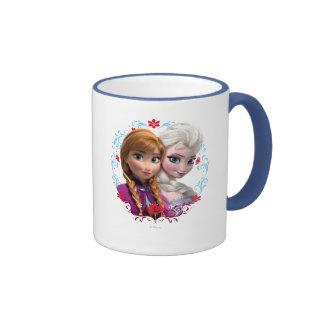 Enlace fuerte corazón fuerte taza de café
