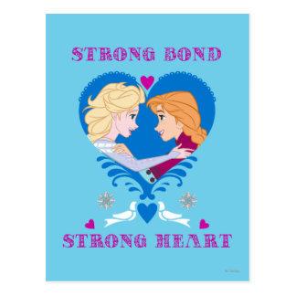 Enlace fuerte de Ana y de Elsa el |, corazón Postales
