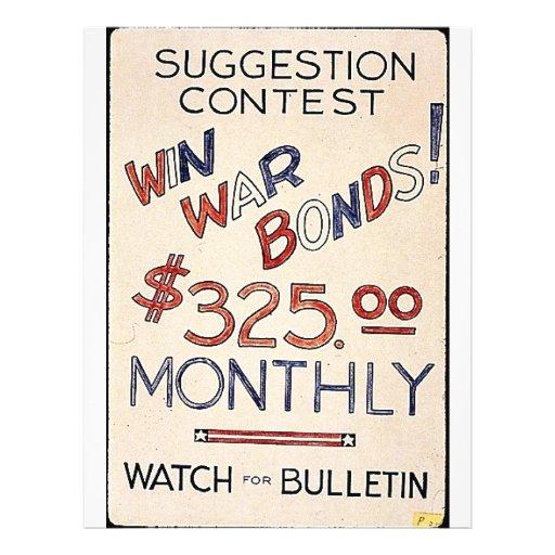 """¡Enlaces de guerra del triunfo! $325,00 mensual Folleto 8.5"""" X 11"""""""