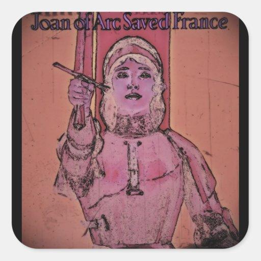 Enlaces de la compra de Juana de Arco WWII Colcomanias Cuadradas