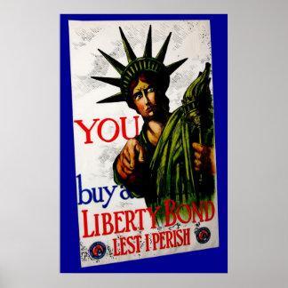 Enlaces de la libertad de la compra del vintage póster