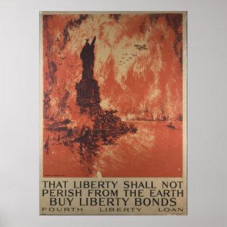 Enlaces de la libertad de WWI Póster