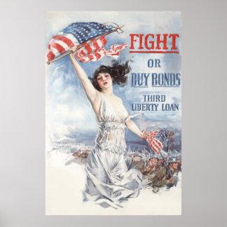 Enlaces de la lucha o de la compra -- WW1 Póster