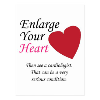 Enlarge your Heart - Carefully Postcard