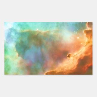 Enlarged Region of The Omega Nebula Rectangular Sticker