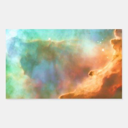 Enlarged Region of The Omega Nebula Rectangle Stickers