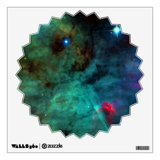 Enlarged Region of The Omega Nebula Wall Decal