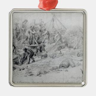 Enlarging the sewers at Moorfields, London, 1841 Metal Ornament