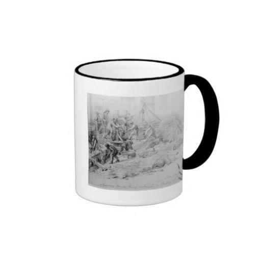 Enlarging the sewers at Moorfields, London, 1841 Ringer Coffee Mug