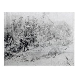 Enlarging the sewers at Moorfields, London, 1841 Postcard