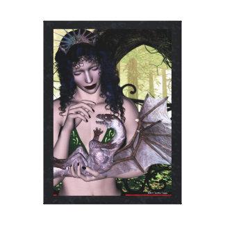 Enlazado para la lona envuelta fantasía del dragón lona envuelta para galerias