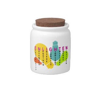 Enlighten Candy Jar