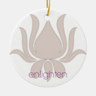 Enlighten Lotus Ceramic Ornament