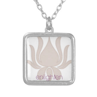 Enlighten Lotus Silver Plated Necklace