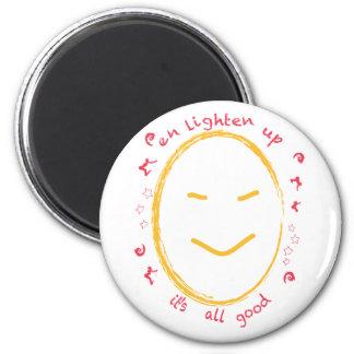 Enlighten Up Smiley Buddha Magnet