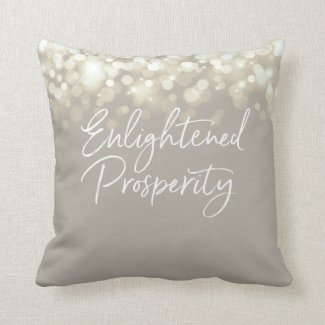 Enlightened Prosperity Throw Pillow