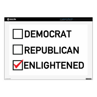 "Enlightened Vote 17"" Laptop Skins"