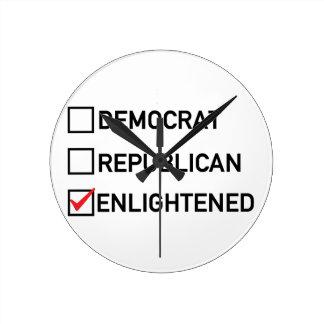 Enlightened Vote Round Clock
