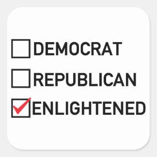 Enlightened Vote Square Sticker