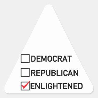 Enlightened Vote Triangle Sticker