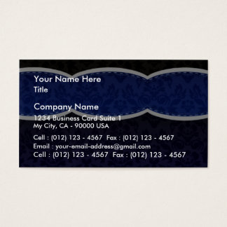 Enlightening Blue floral wedding gift Business Card