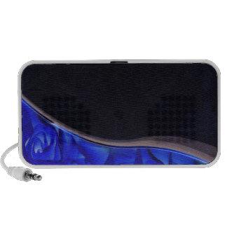 Enlightening bluish texture travelling speaker