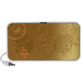 Enlightening golden swirls iPhone speaker