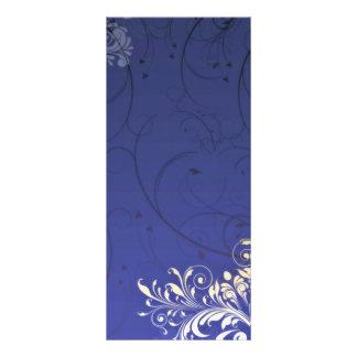 Enlightening Golden Yellow Floral and black swirls Rack Card