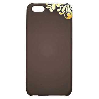Enlightening Golden Yellow Floral Cover For iPhone 5C