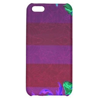 Enlightening greenish blossom and colorful leaves iPhone 5C cases