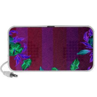 Enlightening greenish blossom and colorful leaves notebook speaker