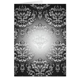 Enlightening Grey and White floral special gift Greeting Cards