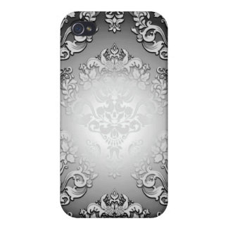 Enlightening Grey and White floral special gift iPhone 4/4S Cover