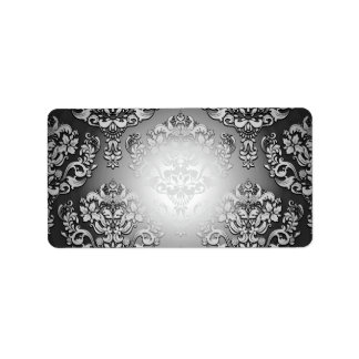 Enlightening Grey and White floral special gift Personalized Address Label