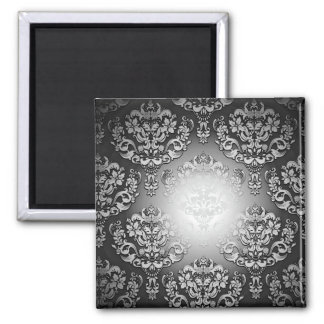 Enlightening Grey and White floral special gift Fridge Magnet