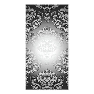 Enlightening Grey and White floral special gift Picture Card