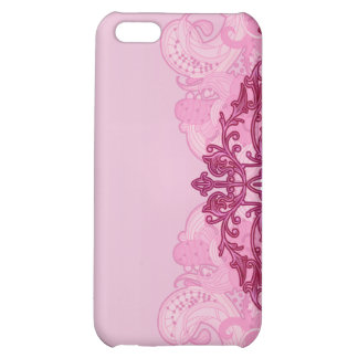 Enlightening pink damask and floral gift cover for iPhone 5C