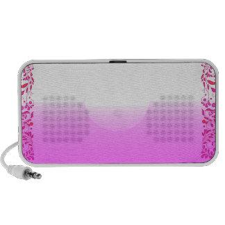 Enlightening pink texture laptop speakers