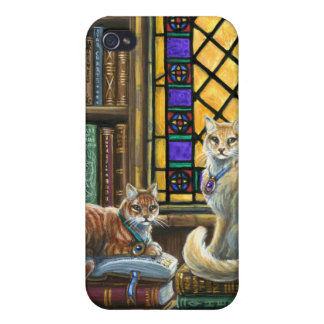 Enlightenment Library Cats iPhone4 Case iPhone 4/4S Cover