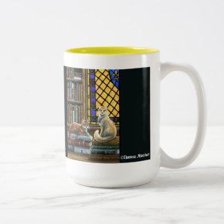 Enlightenment Library Cats Mug