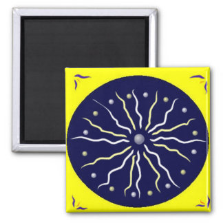 Enlightenment Mandala 2 Inch Square Magnet