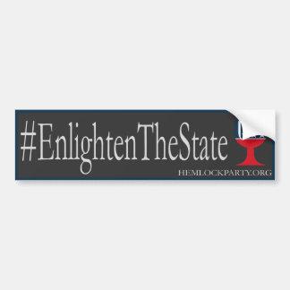 #EnlightenTheState - oscuridad Pegatina Para Auto