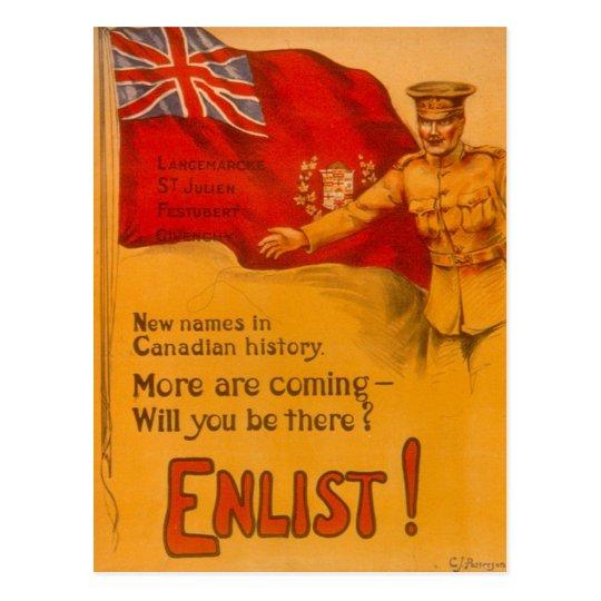 Enlist for Canada! Postcard