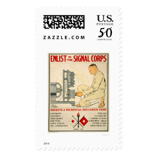 Enlist in Signal Corps 1919 Postage