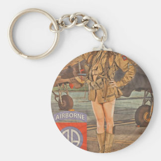 Enlist In The 82nd Airborne Keychain