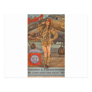 Enlist In The 82nd Airborne Postcard